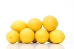 新鲜的组柠檬 免版税库存照片