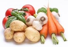 新鲜的组蔬菜 图库摄影