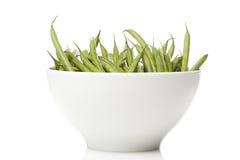 新鲜的绿色菜豆 库存照片