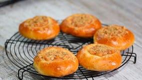 新鲜的自创开放小馅饼用苹果和shtreyzelem -传统俄国烘烤 影视素材
