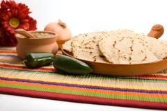 新鲜的自创玉米饼 免版税库存图片
