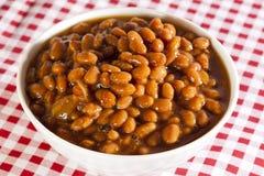 新鲜的自创BBQ被烘烤的豆 免版税库存图片