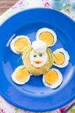 新鲜的芥末鸡蛋 库存照片