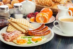 新鲜的英式早餐 库存照片