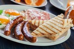 新鲜的英式早餐 图库摄影
