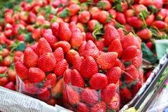 新鲜的草莓。 免版税库存照片