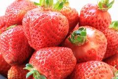 新鲜的草莓特写镜头 免版税库存图片