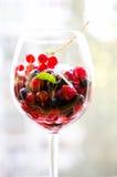 新鲜的莓果沙拉 免版税库存图片