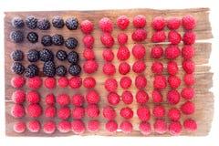 新鲜的莓果的异常的背景样式 库存图片