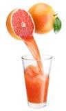 新鲜的葡萄柚汁 免版税图库摄影