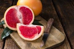 新鲜的葡萄柚 免版税库存照片