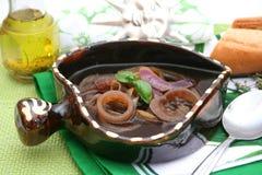 新鲜的葱汤 免版税库存照片