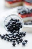 新鲜的蓝莓和蓝草莓饼 免版税图库摄影