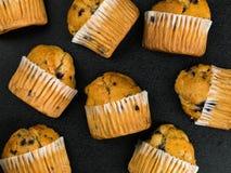 新鲜的蓝莓松饼的选择 免版税库存图片