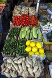 新鲜的蔬菜批发市场 免版税库存照片