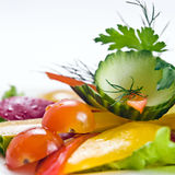新鲜的蔬菜沙拉 图库摄影