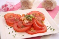 新鲜的蕃茄沙拉 免版税库存图片