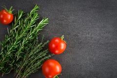 新鲜的蕃茄草本 库存照片
