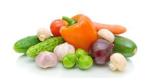 新鲜的蘑菇蔬菜 免版税库存图片