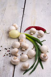 新鲜的蘑菇 免版税库存图片