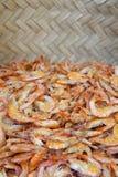 新鲜的虾待售在巴西市场上 免版税库存照片