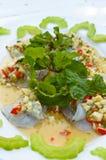 新鲜的虾海鲜,泰国样式 免版税库存照片