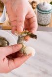 新鲜的虾 免版税库存图片