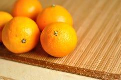 新鲜的蜜桔关闭 免版税库存照片