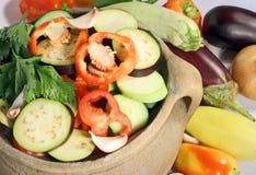 新鲜的被切的蔬菜 图库摄影