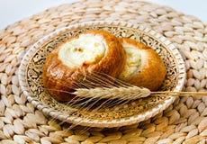新鲜的被烘烤的凝乳馅饼 库存图片