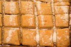 新鲜的被烘烤的南瓜饼 免版税图库摄影