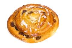 新鲜的被烘烤的大面包用葡萄干 库存图片