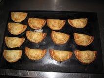 新鲜的被烘烤的康瓦尔郡菜肉烘饼 库存照片