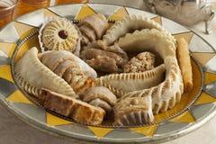 新鲜的被烘烤的摩洛哥曲奇饼 免版税库存照片