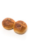 新鲜的被烘烤的整粒小圆面包 库存照片