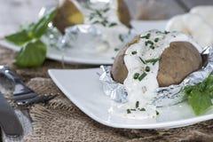 新鲜的被烘烤的Potatoe 库存图片