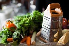 新鲜的被磨碎的蔬菜 图库摄影