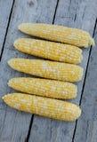 新鲜的被采摘的双颜色玉米 库存照片