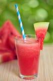 新鲜的西瓜汁 库存照片