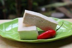 新鲜的豆腐 库存照片