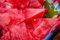 新鲜的酥脆甜西瓜 库存图片