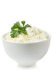新鲜的酸奶干酪 库存照片
