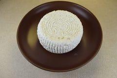 新鲜的酸奶干酪 库存图片