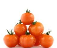 新鲜的金字塔蕃茄 免版税图库摄影