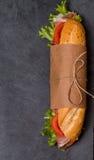 从新鲜的长方形宝石的三明治 库存照片