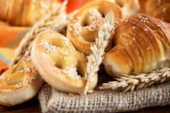 新鲜的面包店产品 免版税库存图片