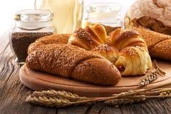 新鲜的面包店产品 图库摄影