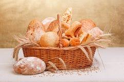 新鲜的面包店产品 库存图片