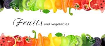 新鲜的颜色水果和蔬菜 免版税图库摄影