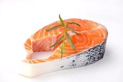 新鲜的鲑鱼排 免版税库存照片